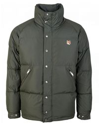 Maison Kitsuné Fox Head Patch Down Jacket - Green