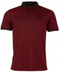 BOSS Black - Prout 10 Logo Short Sleeved Polo - Lyst