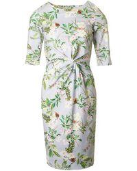 BOURNE - Beatrice 3/4 Sleeve Garden Print Dress - Lyst