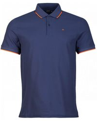 J.Lindeberg Roy Clean Tipped Pique Polo - Blue