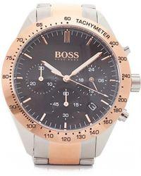 BOSS - Talent Two Colour Bracelet Strap Watch - Lyst