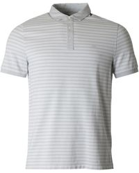 Michael Kors - Birdseye Striped Short Sleeved Polo - Lyst