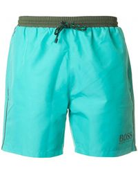 223f8c8684 Boss Black Starfish Swim Shorts Blue in Blue for Men - Lyst