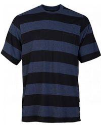 Oliver Spencer Box Stripe T-shirt - Blue