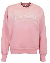 KENZO Pearl Logo Sweat - Pink