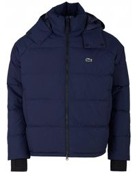 Lacoste L!ive - Quilted Hooded Jacket - Lyst