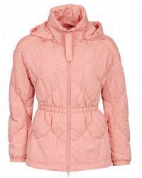 Emporio Armani Nylon Quilted Short Coat - Pink