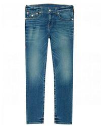 True Religion Rocco Flap Pocket Slim Fit Jeans - Blue