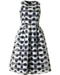 BOURNE - Striped Polka Full Skirt Dress - Lyst