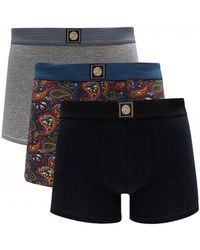 Pretty Green - 3 Pack Of Vintage Paisley Boxer Shorts - Lyst
