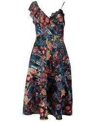 Foxiedox - Retro Flower Asymetrical Dress - Lyst