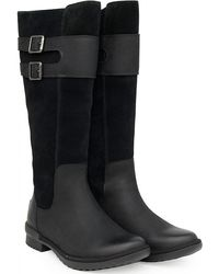 UGG Zarina Tall Buckle Boots - Black