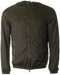 Armani - All Over Eagle Hooded Jacket - Lyst