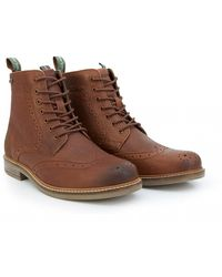 70d03f5b289 Belsay Leather Brogue Boots - Brown