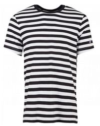 Champion Crew Neck Striped T-shirt - Black