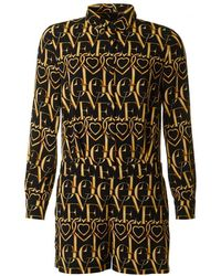 Love Moschino - All Over Heart Monogram Playsuit - Lyst