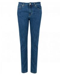 PS by Paul Smith Mid Rise Girlfriend Jeans - Blue