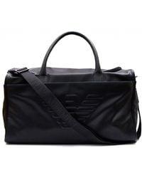 a14c0a00ca65 Armani Jeans Black Monogrammed Shoulder Bag in Black for Men - Lyst