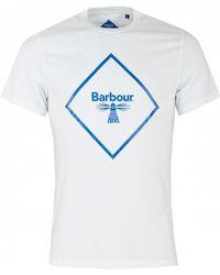 Barbour - Beacon Large Logo Short Sleeved - Lyst