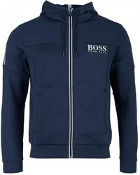 BOSS Athleisure - Saggy Zip Through Hooded Sweat - Lyst