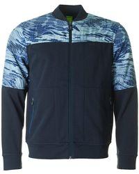 BOSS Athleisure - Stanlow Reversible Sweat Jacket - Lyst