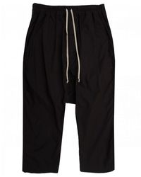 Rick Owens Drkshdw Drawstring Cropped Pants - Black