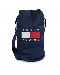 Tommy Hilfiger Tjw Heritage Logo Large Sling Bag - Blue