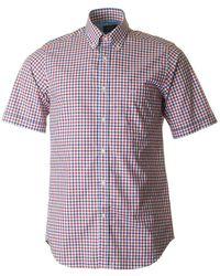 Paul & Shark - Three Colour Checked Shirt - Lyst
