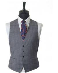 BOSS Black - Huge Genius 3 Piece Checked Suit - Lyst