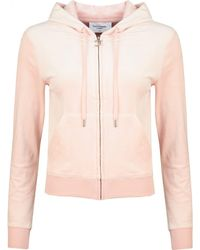 Juicy Couture Robertson Core Zip Through Velour Hoody - Pink