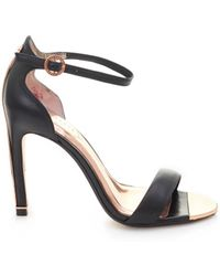 Ted Baker - Leather Ankle Strap Sandals - Lyst