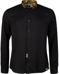 Versace Jeans Couture Baroque Print Collar Shirt - Black