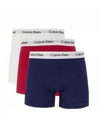 Calvin Klein 3 Pack Boxer Shorts - Blue
