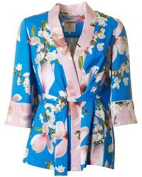 Ted Baker - Harmony Print Pleat Back Kimono - Lyst