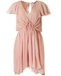 French Connection Brooke Drape Dress - Pink