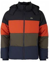 Lacoste Sport - Colour Block Puffer Jacket - Mens Xs - Lyst