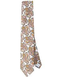 Eton of Sweden - Large Paisley Silk Tie - Lyst