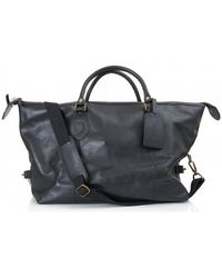 Barbour - Leather Travel Explorer - Lyst