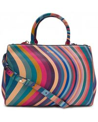 Paul Smith - 'Swirl' Print Leather Tote Bag - Lyst