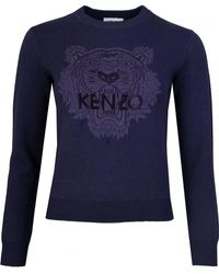 KENZO - Classic Logo Knitted Crew Neck Jumper - Lyst