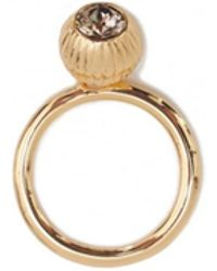 Ted Baker - Anessa Plisse Crystal Ball Ring - Lyst