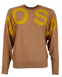 BOSS by Hugo Boss Walci Logo Knitted Jumper - Brown
