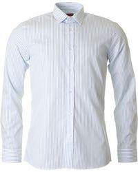 HUGO - Elisha Striped Slim Fit Shirt - Lyst