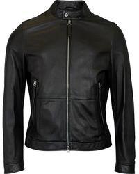 BOSS by Hugo Boss Noven Leather Jacket - Black