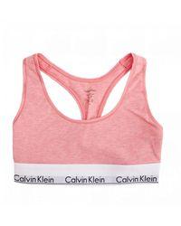Calvin Klein Unlined Bralette - Pink