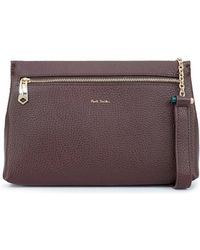 Paul Smith - Leather Chain Toggle Crossbody Bag - Lyst