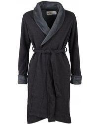 UGG Duffield Ii Fleece Lined Dressing Gown - Black