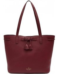 Kate Spade - Hayes Street Nandy Bow Leather Shopper - Lyst