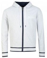 BOSS by Hugo Boss Heritage Zip Through Hoody - Grey
