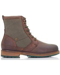 Barbour - Whitburn Canvas Panel Boots - Lyst